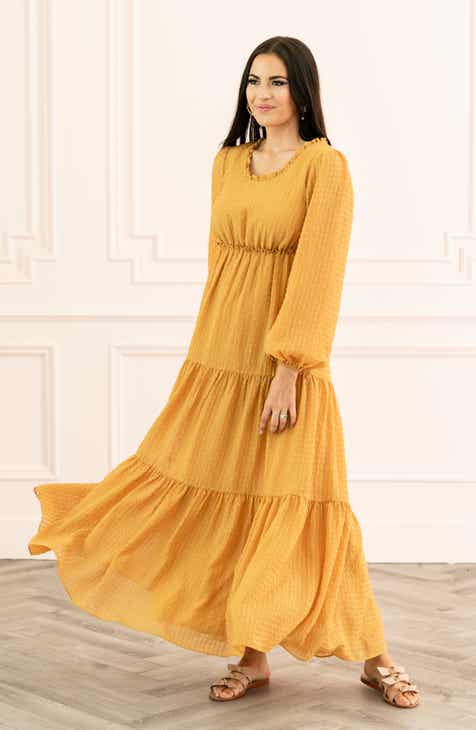 ea79a1bb1 Rachel Parcell Tiered Long Sleeve Maxi Dress (Nordstrom Exclusive)
