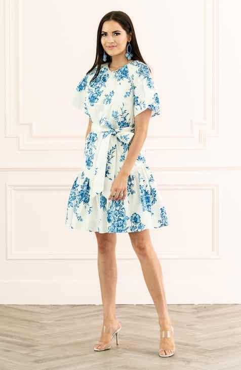 3416e39652767 Rachel Parcell Ruffle Front Tie Stretch Cotton Dress (Nordstrom Exclusive)