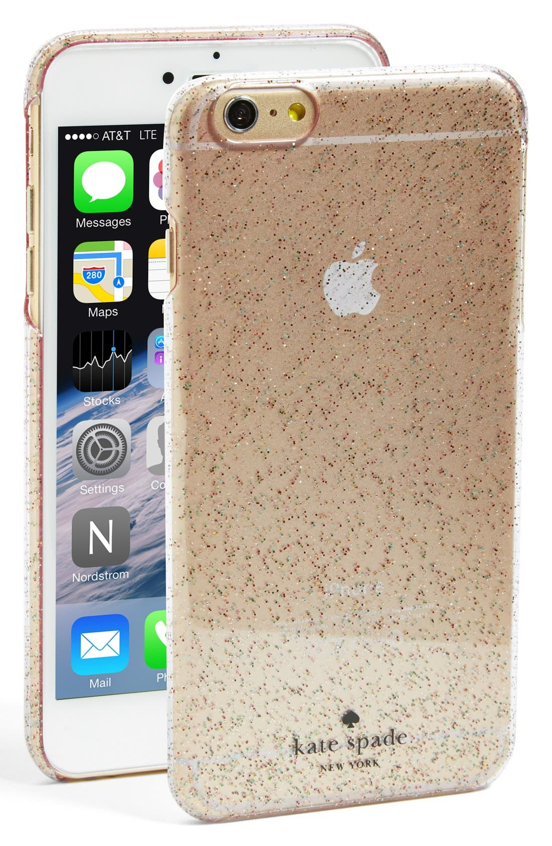 Alternate Image 1 Selected - kate spade new york glitter iPhone 6 Plus/6s Plus case