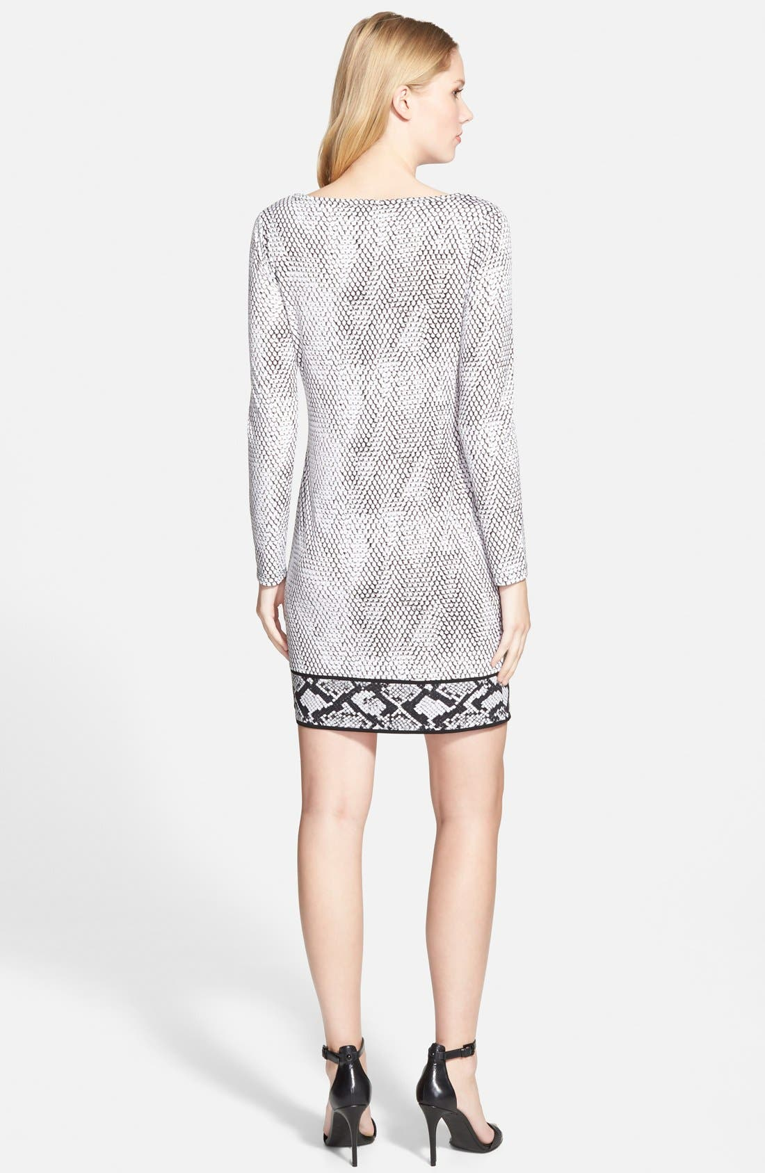 Alternate Image 2  - MICHAEL Michael Kors Snakeskin Border Print Shift Dress (Regular & Petite)