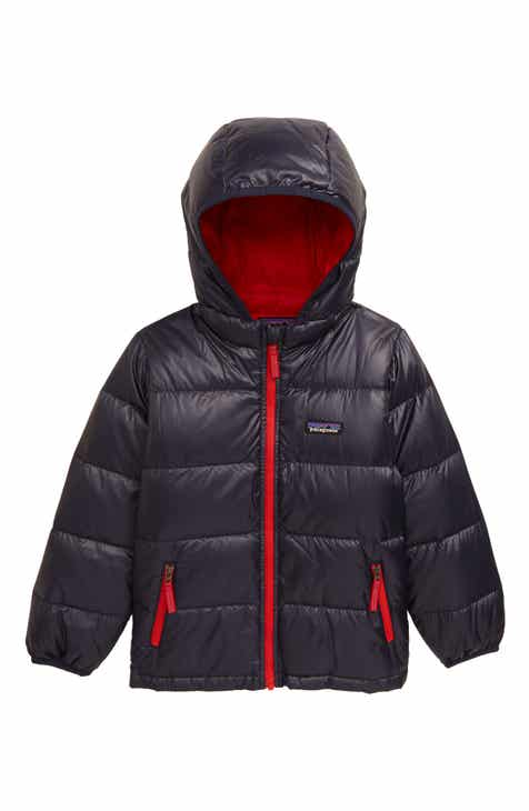 Patagonia Reversible Water Resistant 600-Fill-Power Down Hooded Jacket (Toddler Boys)