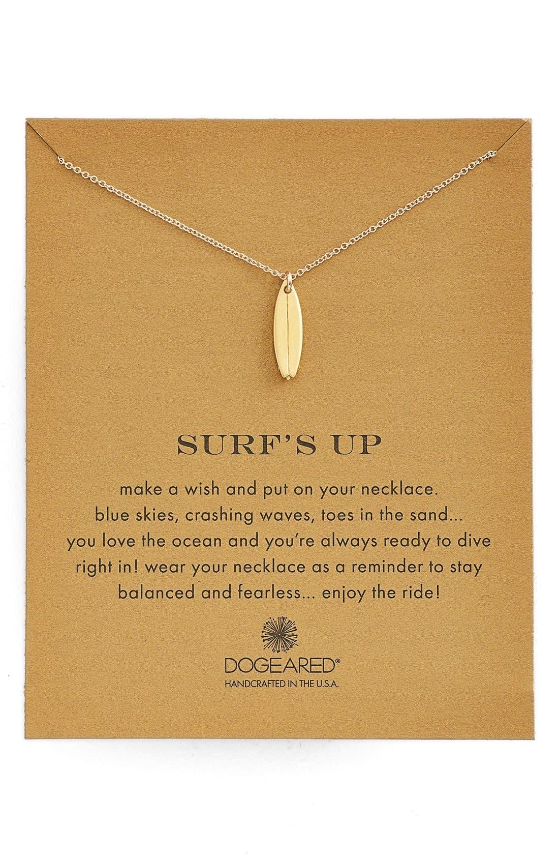 Main Image - Dogeared 'Reminder - Surf's Up' Surfboard Pendant Necklace