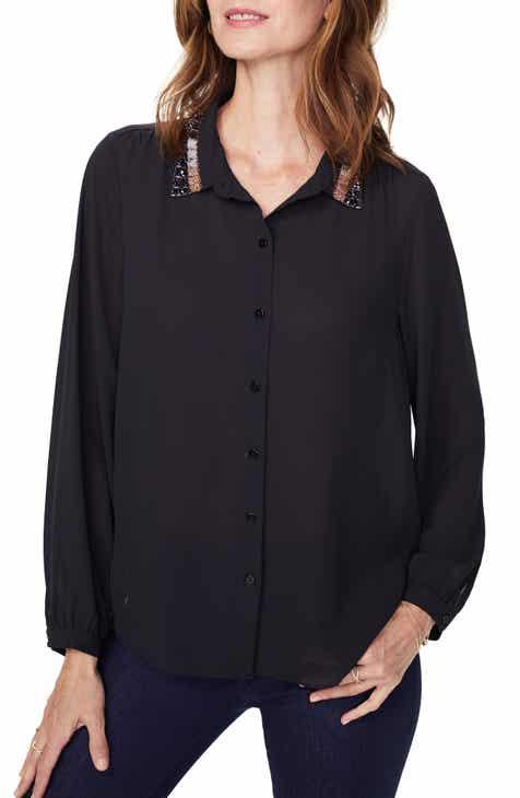 NYDJ Embellished Modern Blouse