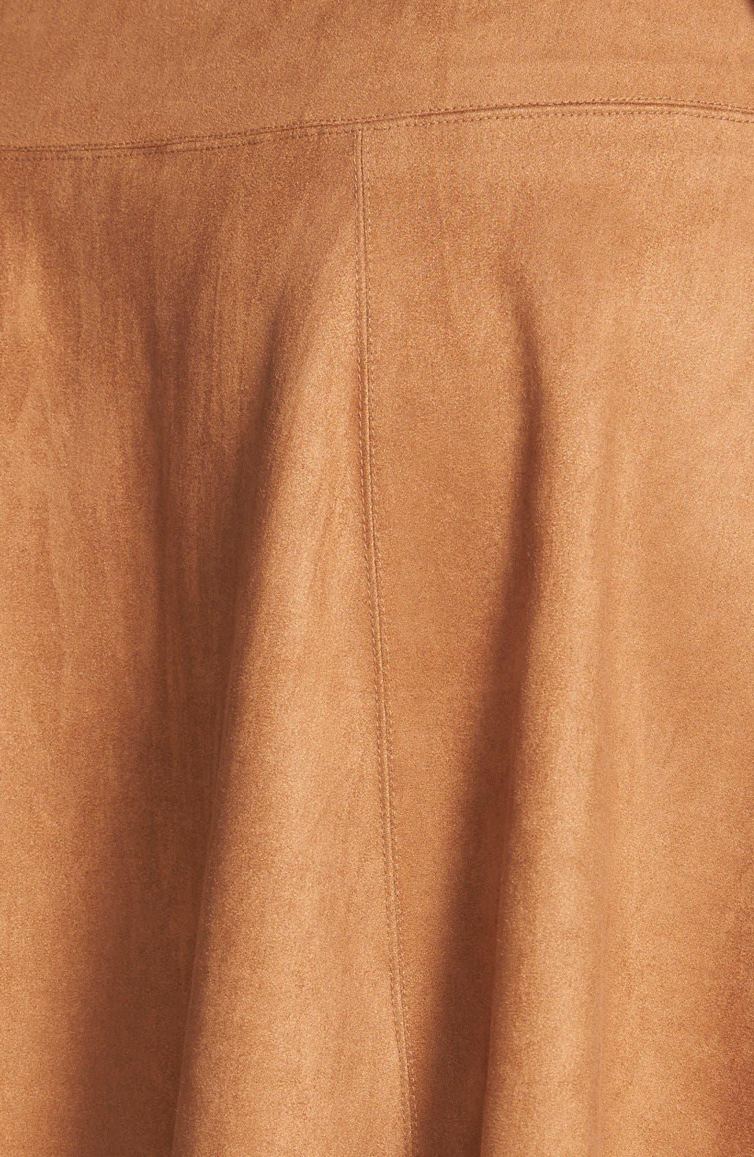 Alternate Image 3  - Karen Kane Faux Suede Flare Panel Skirt