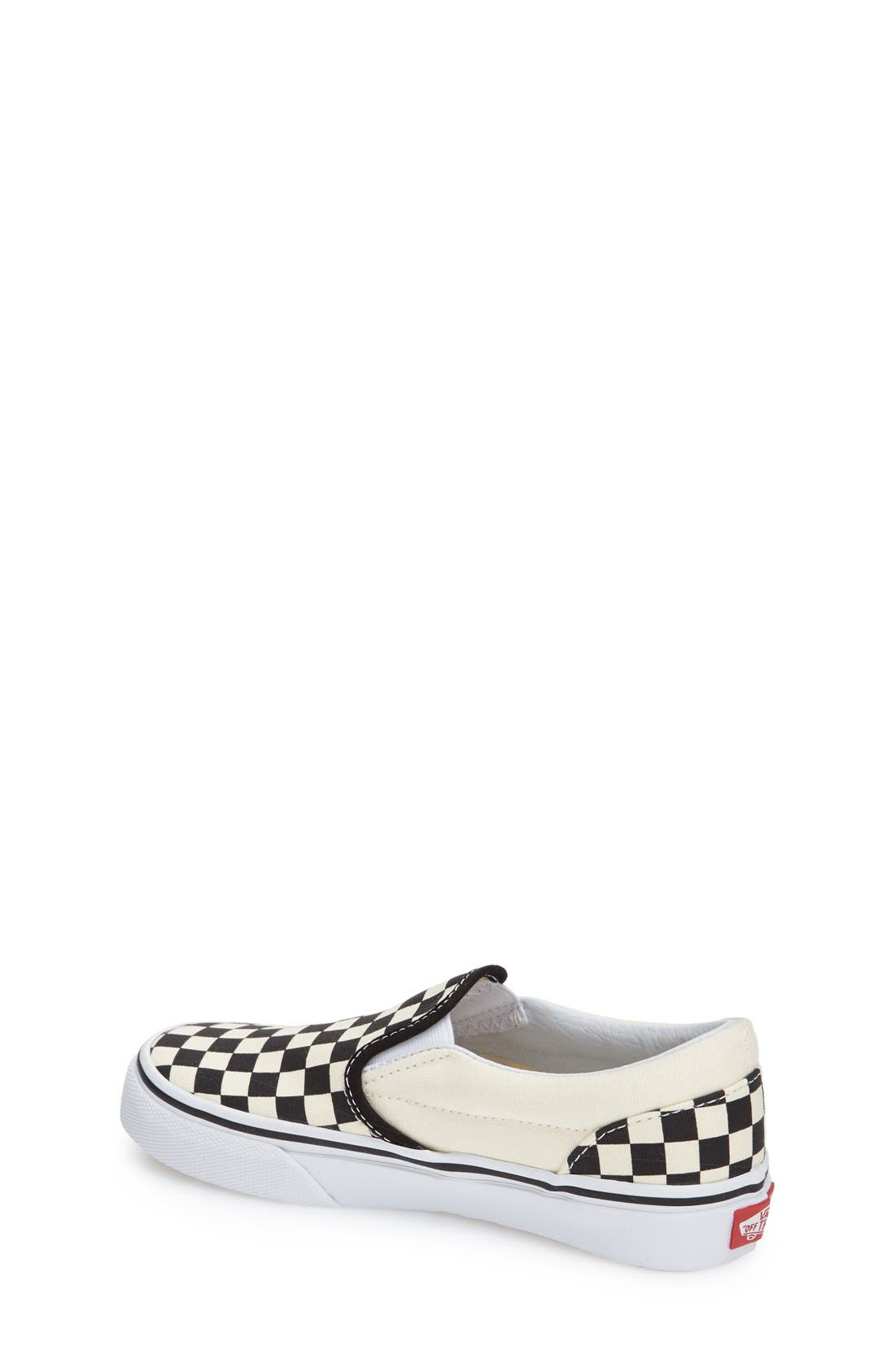 'Classic - Checker' Slip-On,                             Alternate thumbnail 2, color,                             Checkerboard/ Black/ White