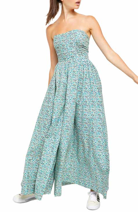 Free People Mustang Strapless Jumpsuit