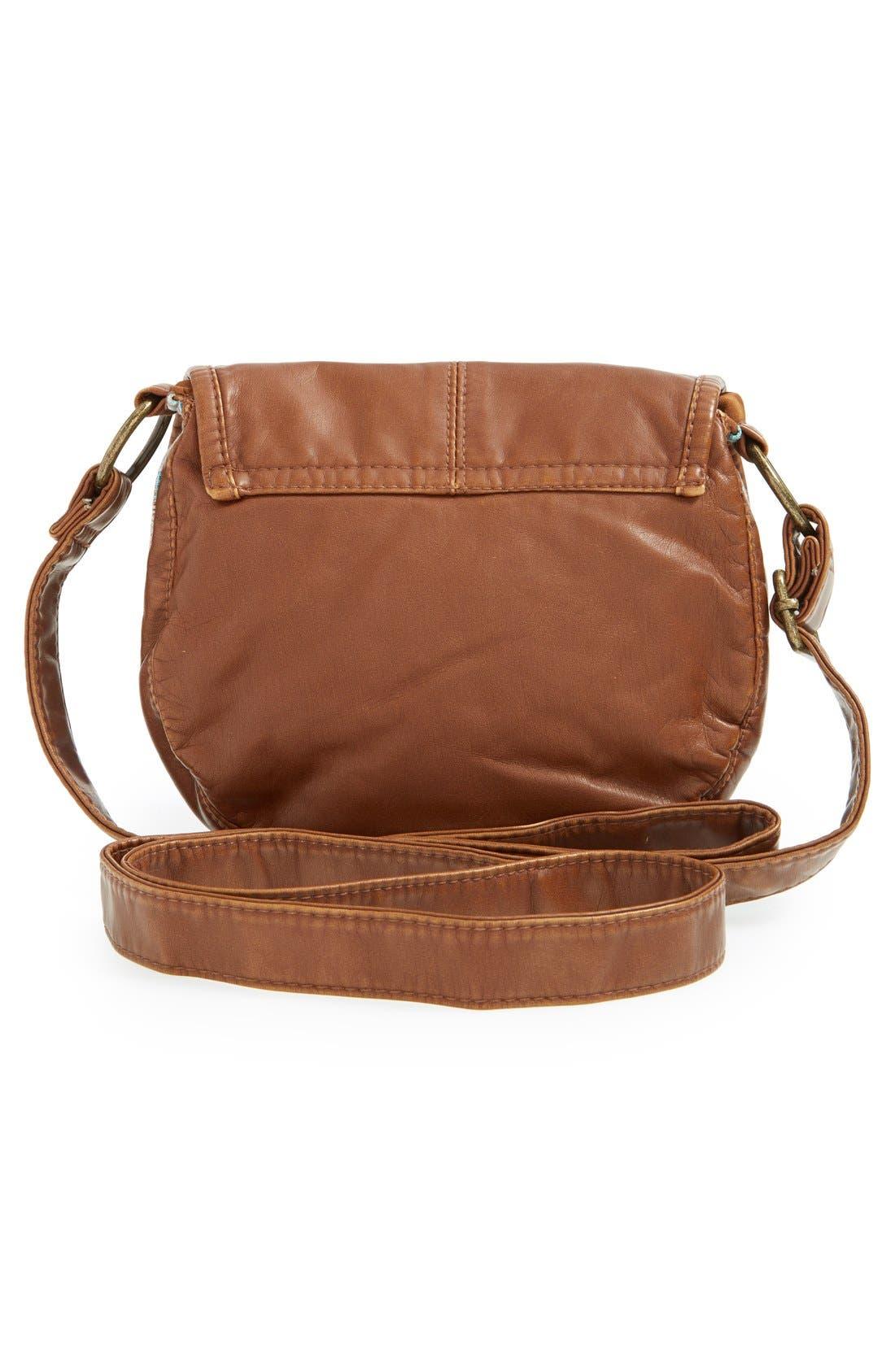 Alternate Image 4  - BP. Woven Border Faux Leather Crossbody Bag