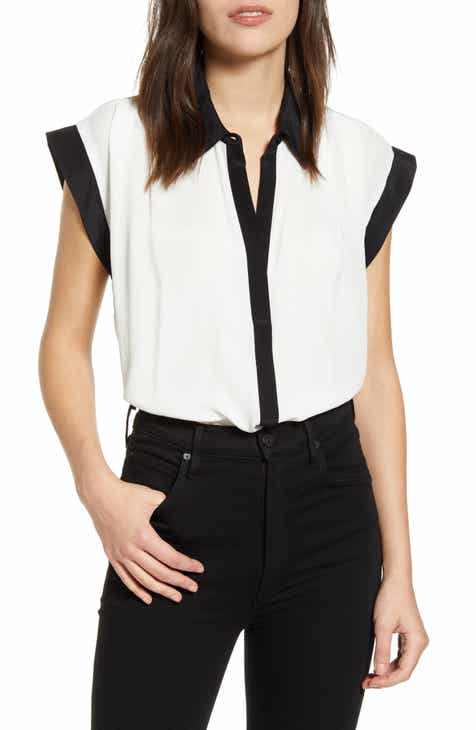 7 For All Mankind® Colorblock Cuff Top