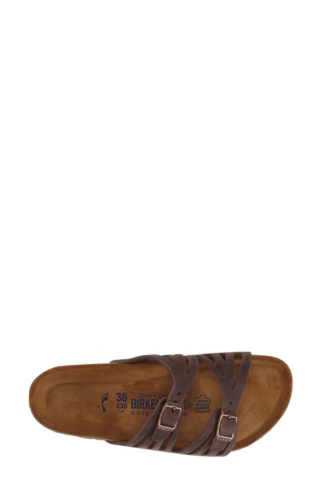 Alternate Image 3  - Birkenstock Granada Soft Footbed Oiled Leather Sandal (Women)