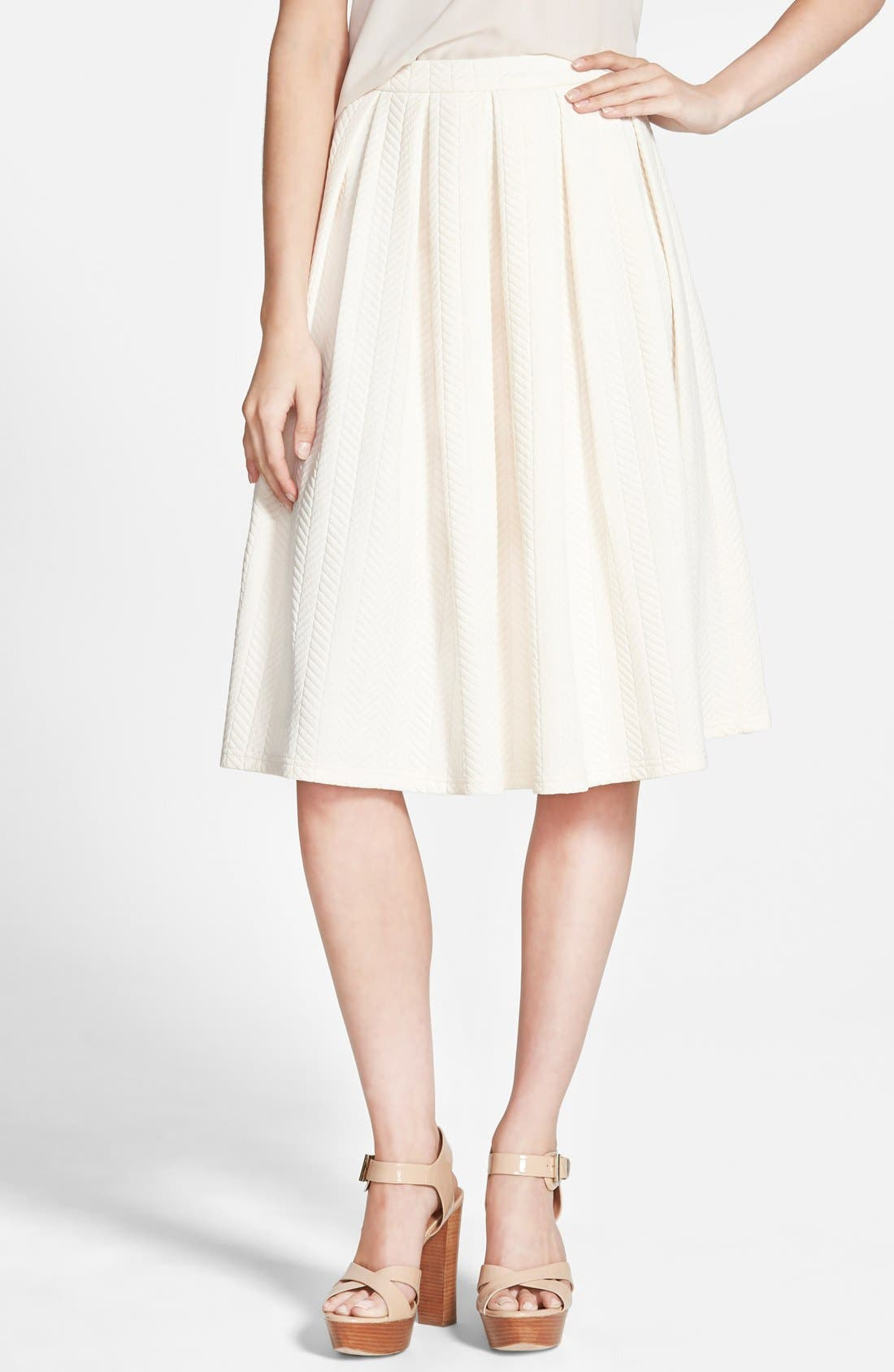 Main Image - STOREE Textured Midi Skirt