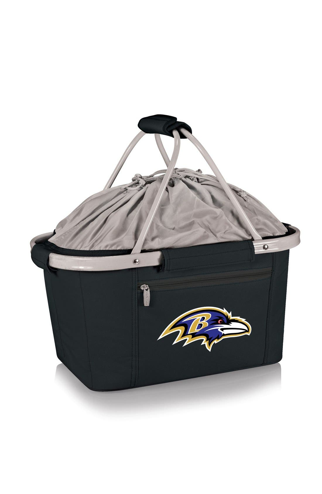 Metro NFL Collapsible Insulated Basket,                             Main thumbnail 1, color,                             Baltimore Ravens/ Black