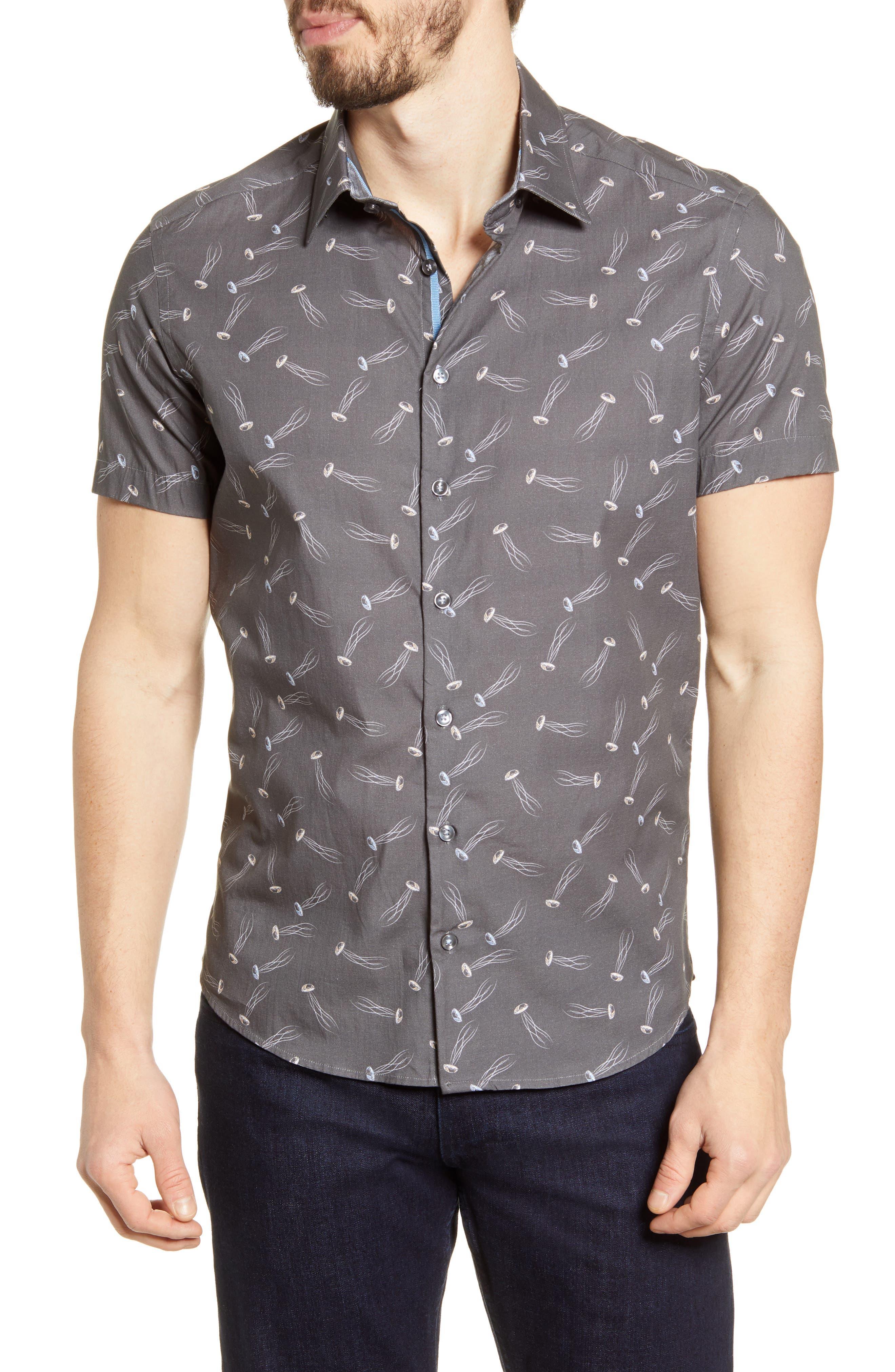 Stone Rose Mens Honeycomb Printed Polo Shirt