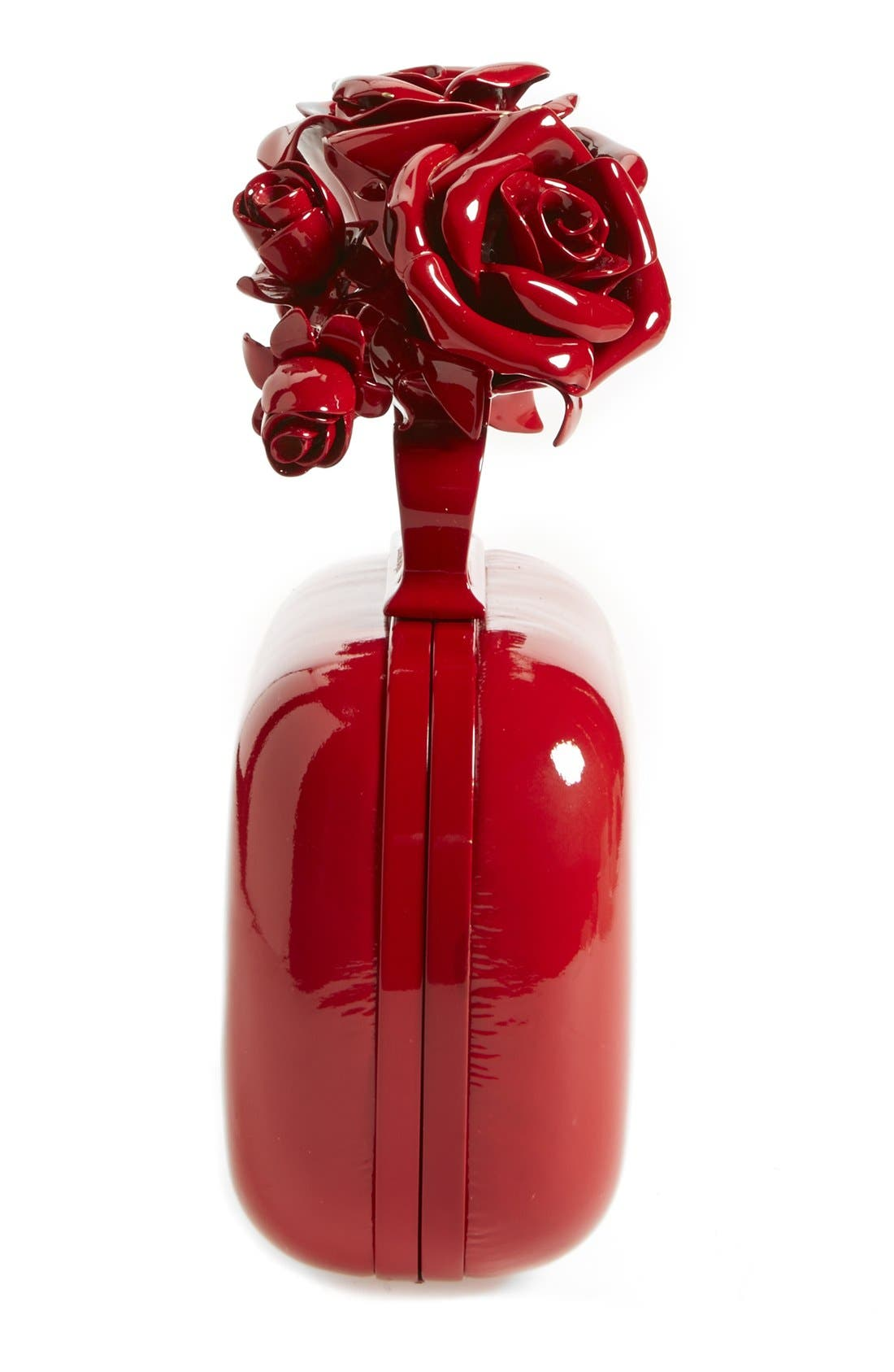 Alternate Image 4  - Alexander McQueen 'Lacquered Rose' Knuckle Box Clutch