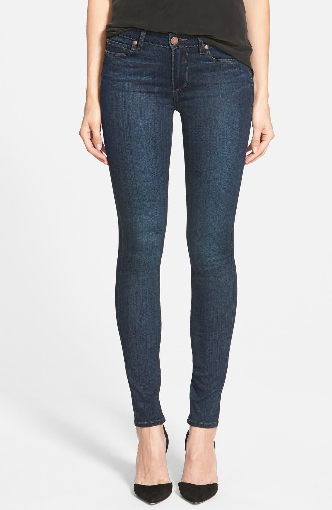 Alternate Image 1 Selected - PAIGE 'Transcend - Verdugo' Ultra Skinny Jeans (Clark)