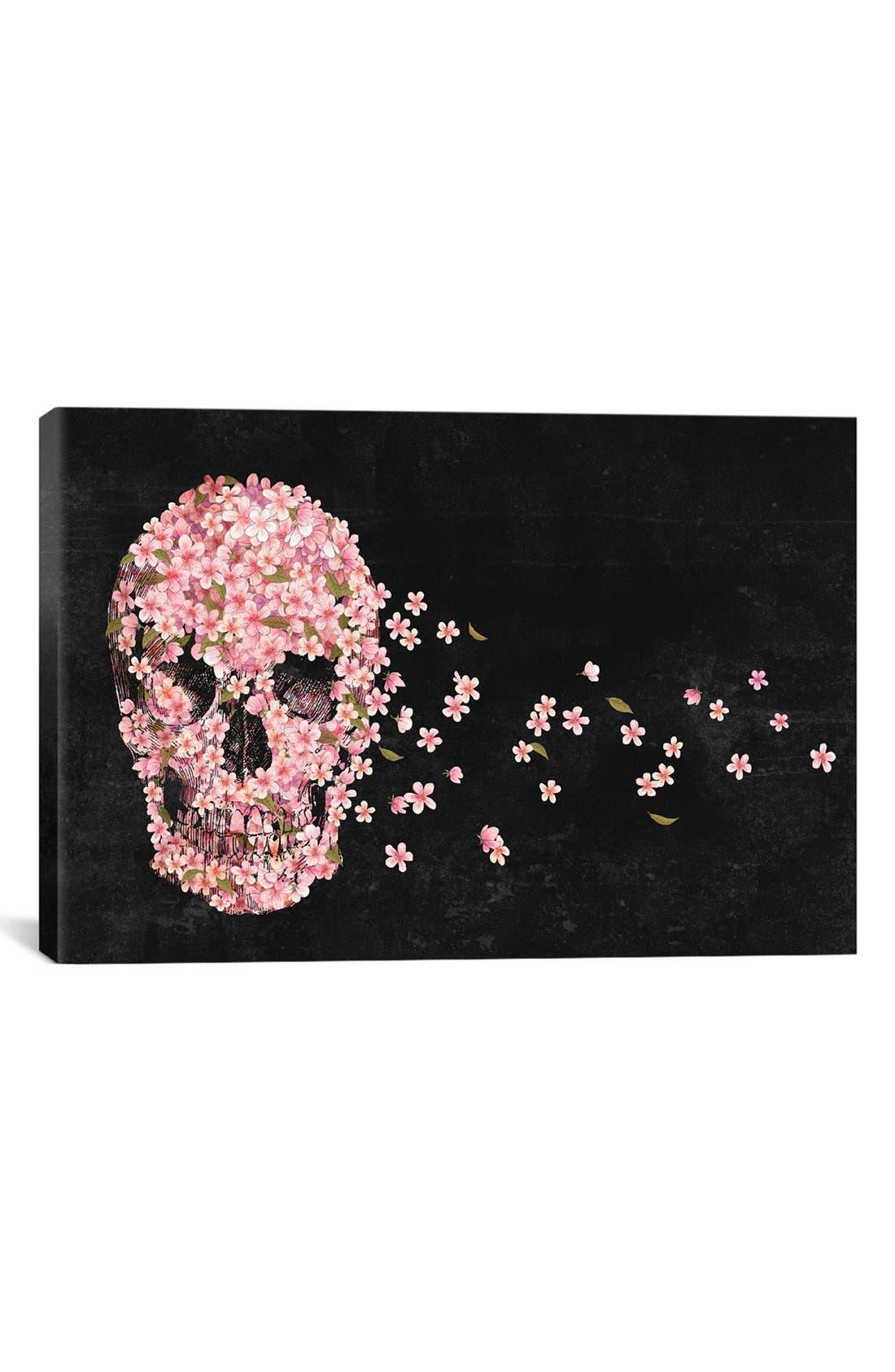 'Beautiful Death - Terry Fan' Giclée Print Canvas Art,                         Main,                         color, Black