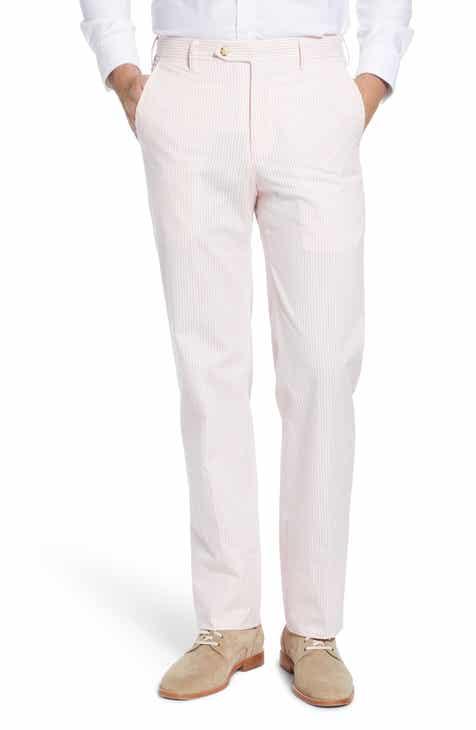 Berle Flat Front Seersucker Pants
