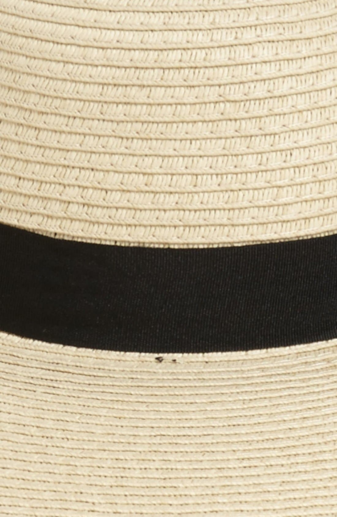 Floppy Straw Hat,                             Alternate thumbnail 2, color,                             Natural