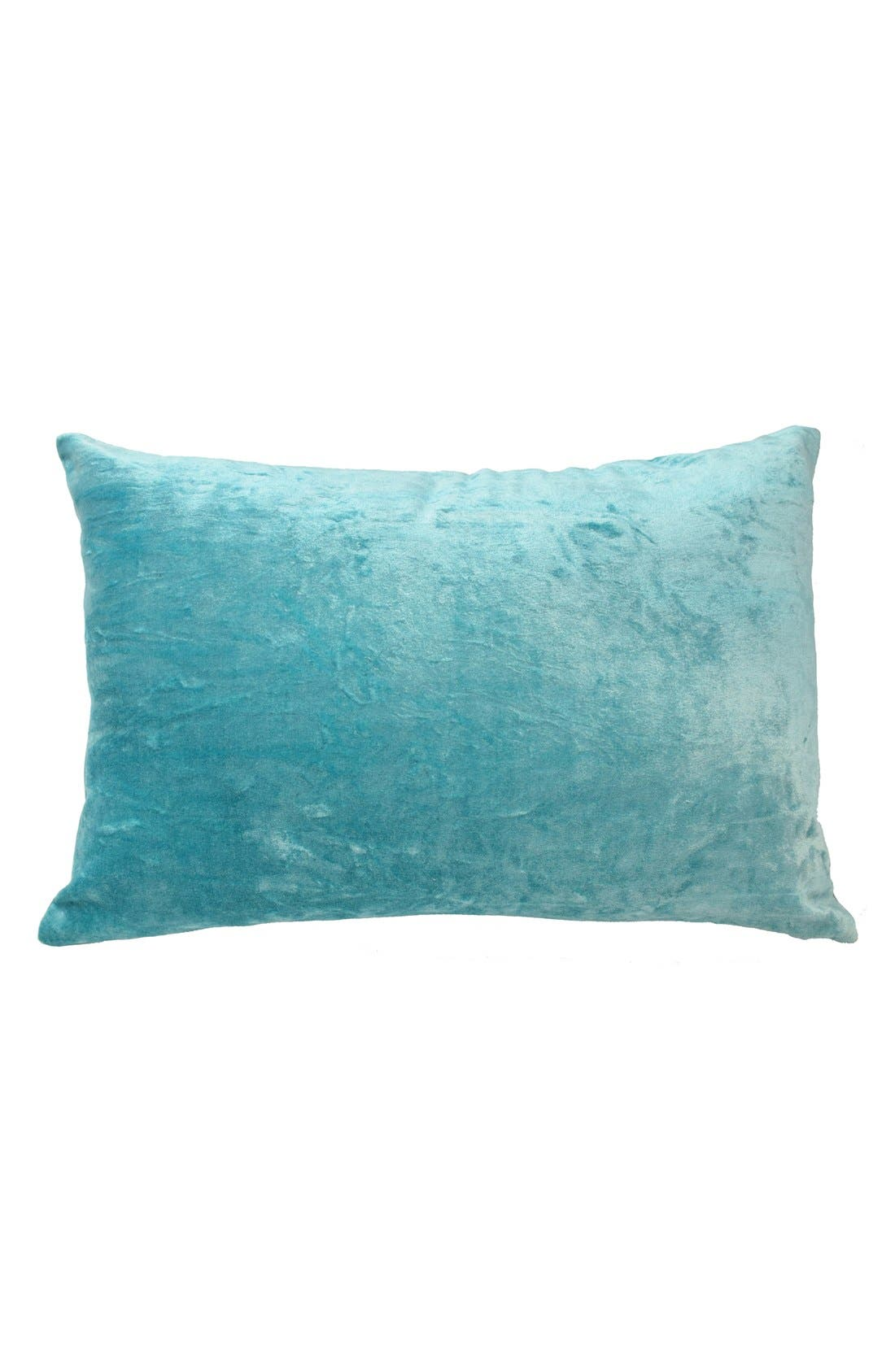 'Feliz' Pillow,                         Main,                         color, Teal