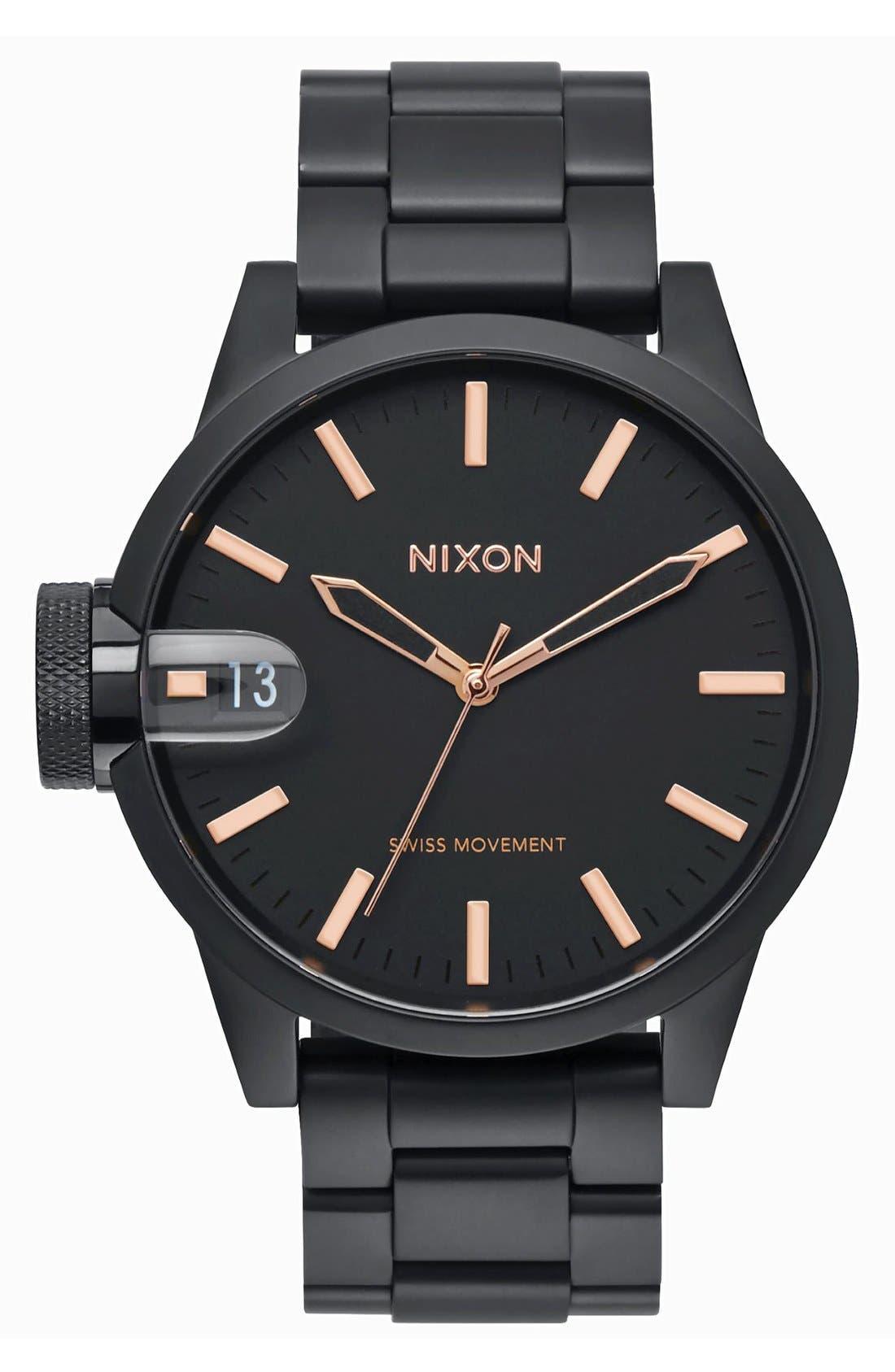 Nixon 'The Chronicle' Bracelet Watch, 44mm