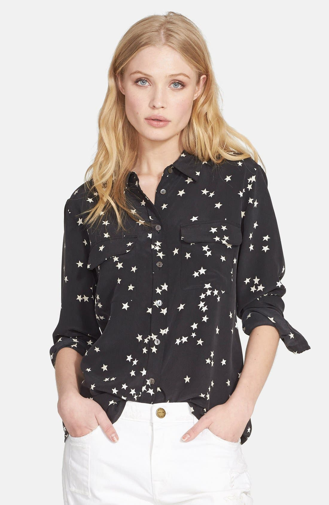 Alternate Image 1 Selected - Equipment 'Starry Night' Silk Shirt