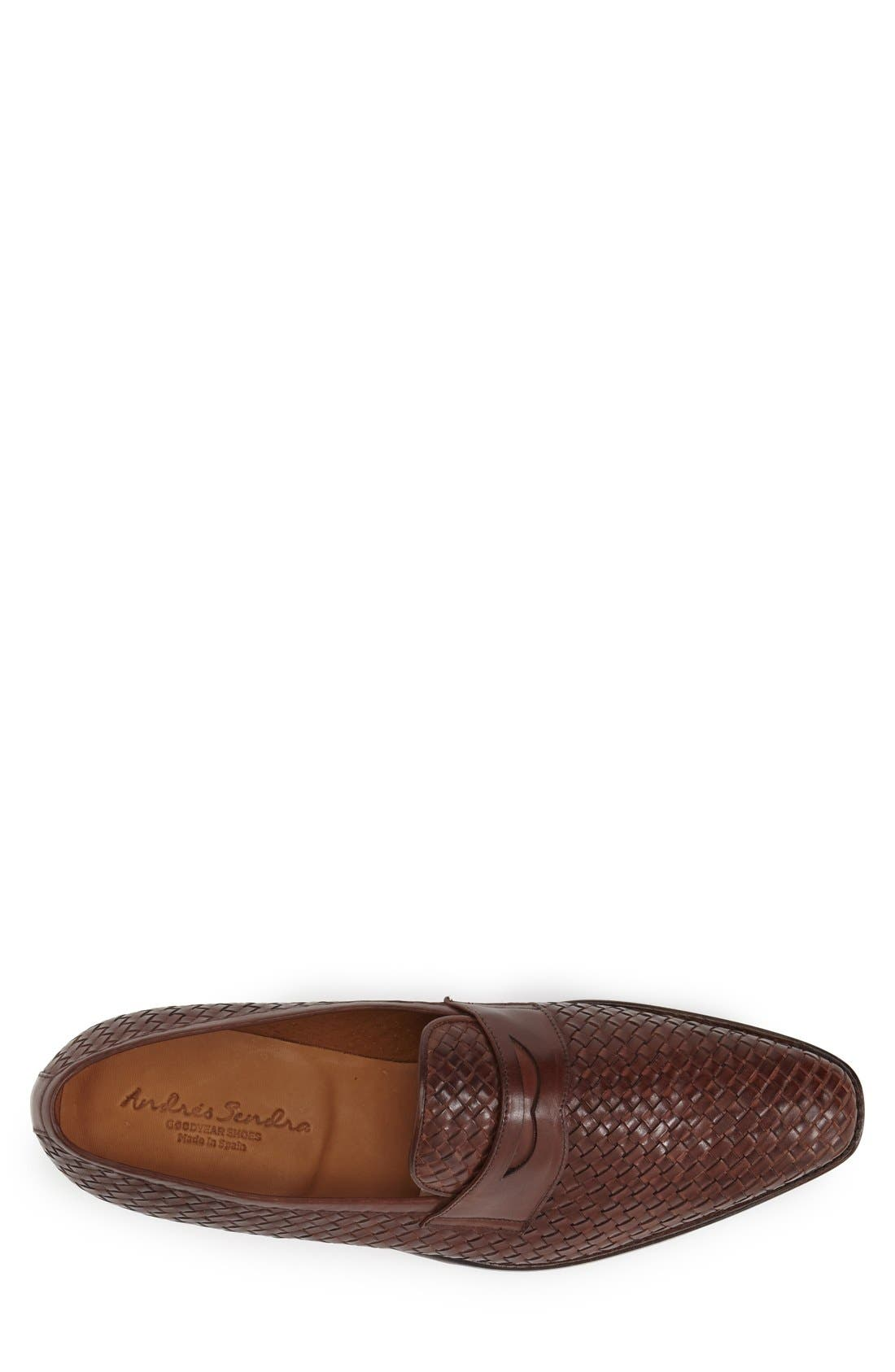 Boots 'Saratoga' Penny Loafer,                             Alternate thumbnail 3, color,                             Brown