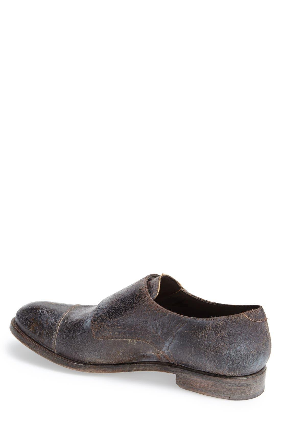 Boots 'Friar Tuk' Double Monk Strap Shoe,                             Alternate thumbnail 2, color,                             Brown Vintage