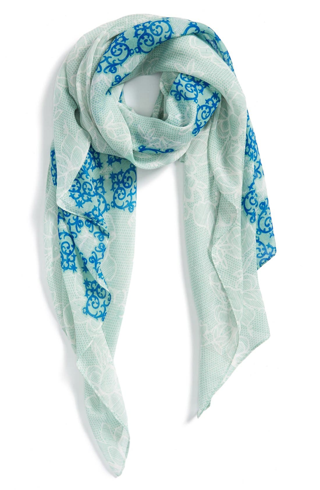Main Image - Evelyn K 'Lacy Floral Number' Print Scarf