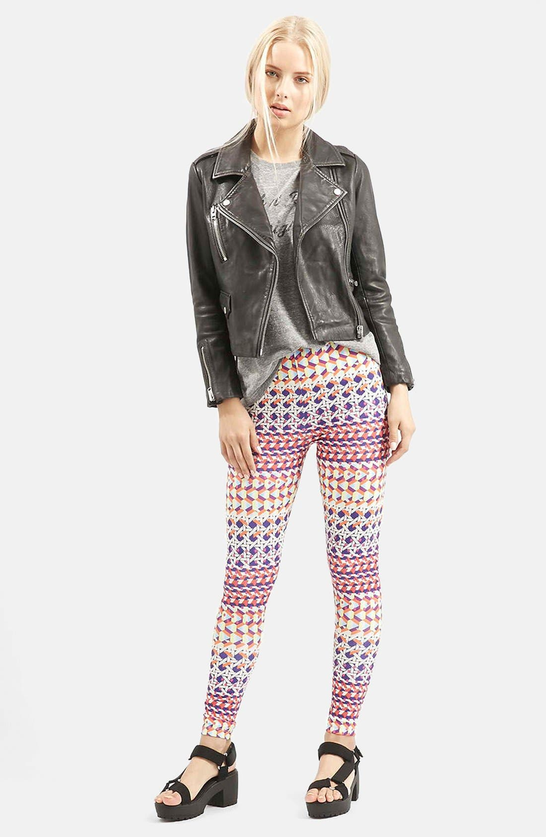 Alternate Image 5  - Topshop Geo Print Leggings