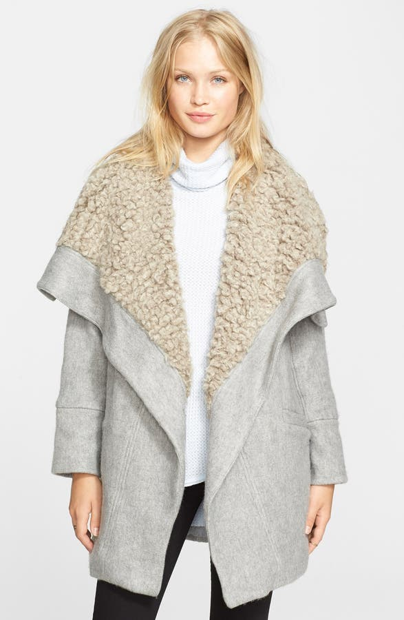 Free People Faux Shearling Wrap Coat | Nordstrom