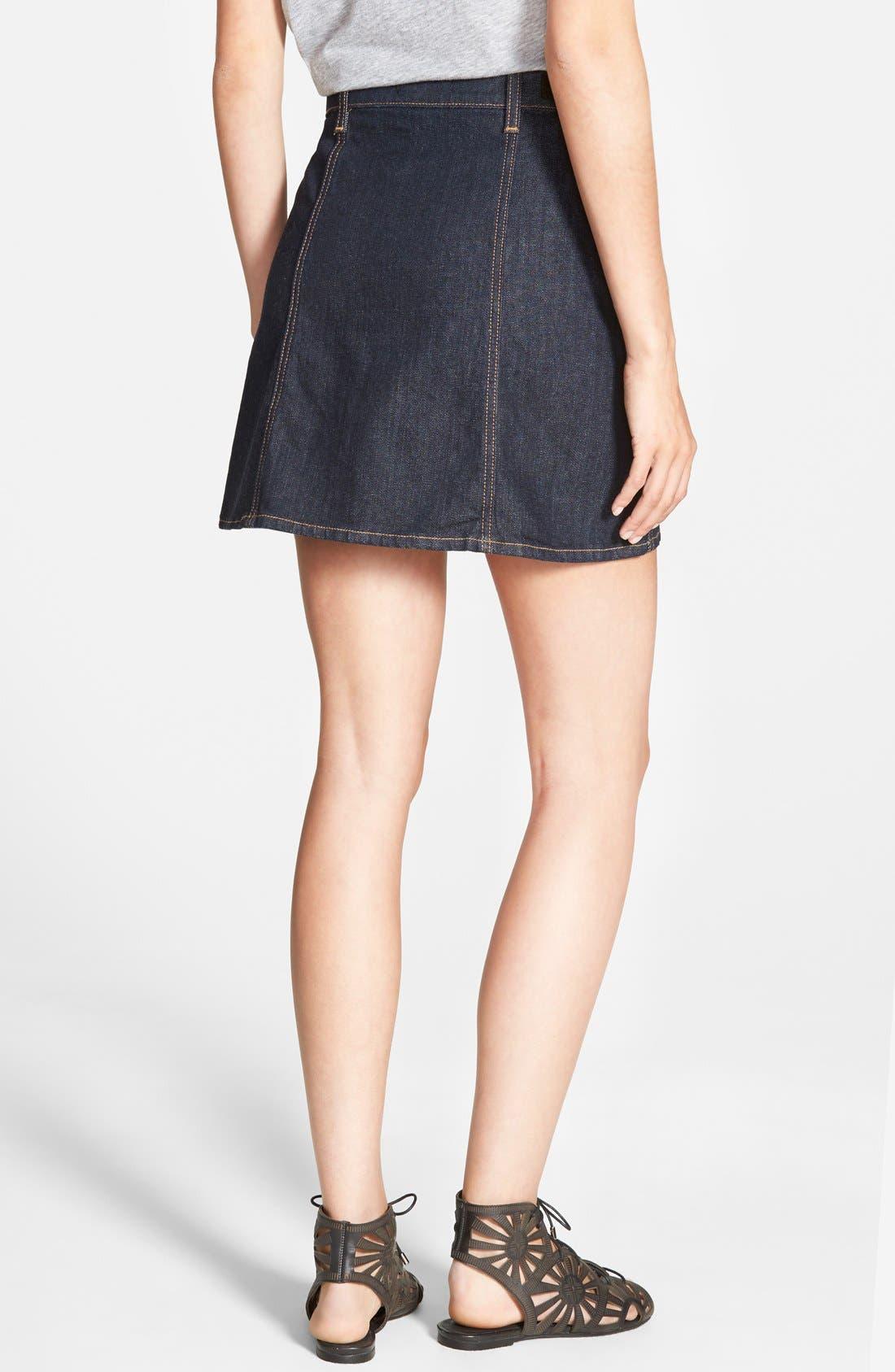 Alternate Image 2  - Alexa Chung for AG 'The Kety' A-Line Denim Skirt (Loan Star)