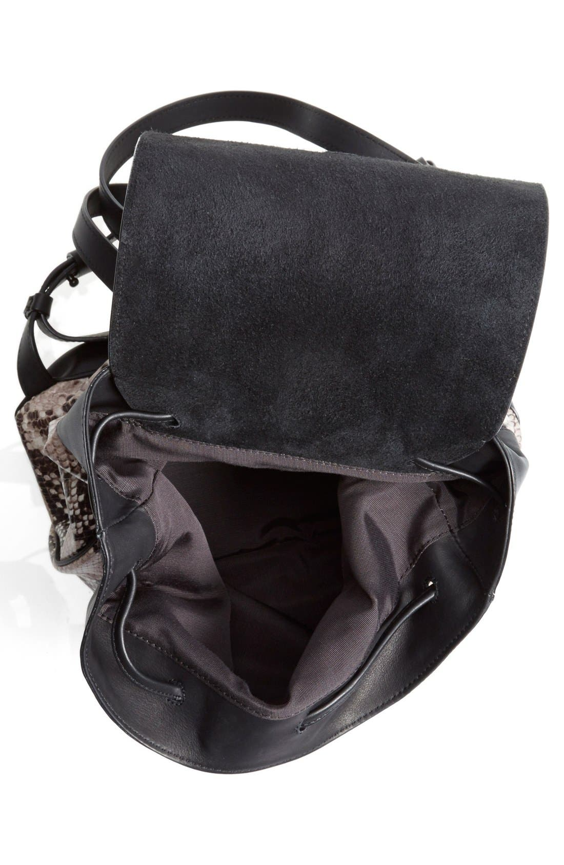 Alternate Image 4  - rag & bone 'Pilot' Snake Embossed Leather Backpack