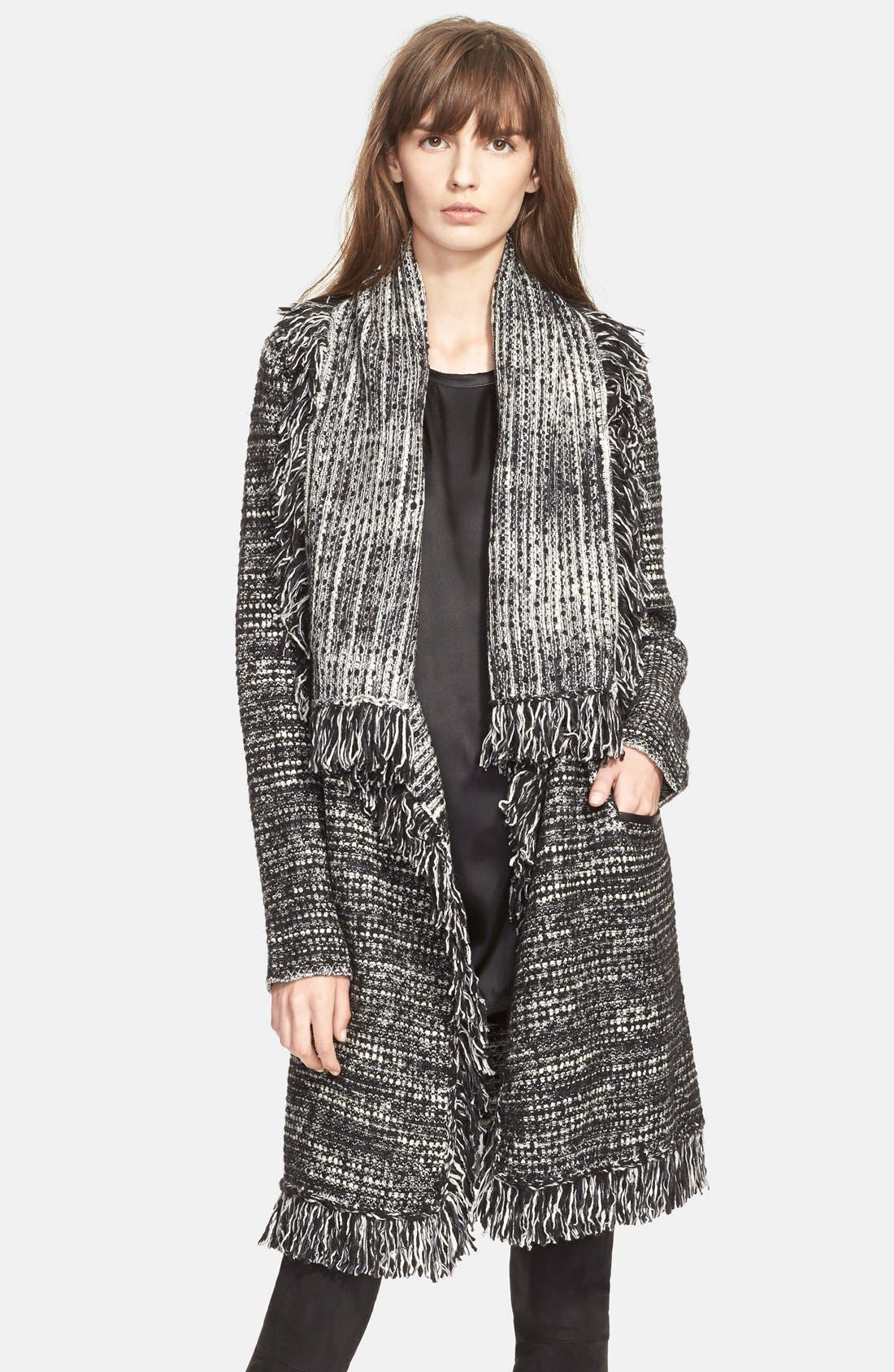 Alternate Image 1 Selected - Vince Frayed Edge Drape Front Cardigan