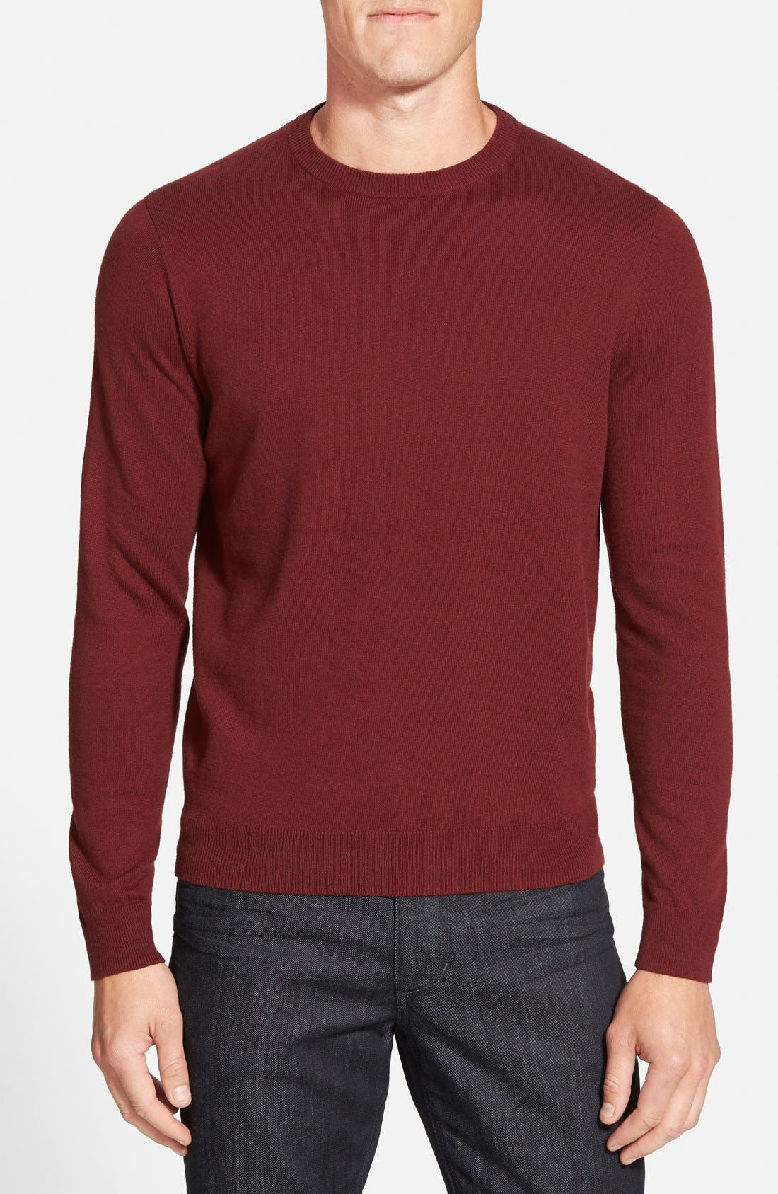 Nordstrom Men's Shop Cotton & Cashmere Crewneck Sweater (Regular & Tall)