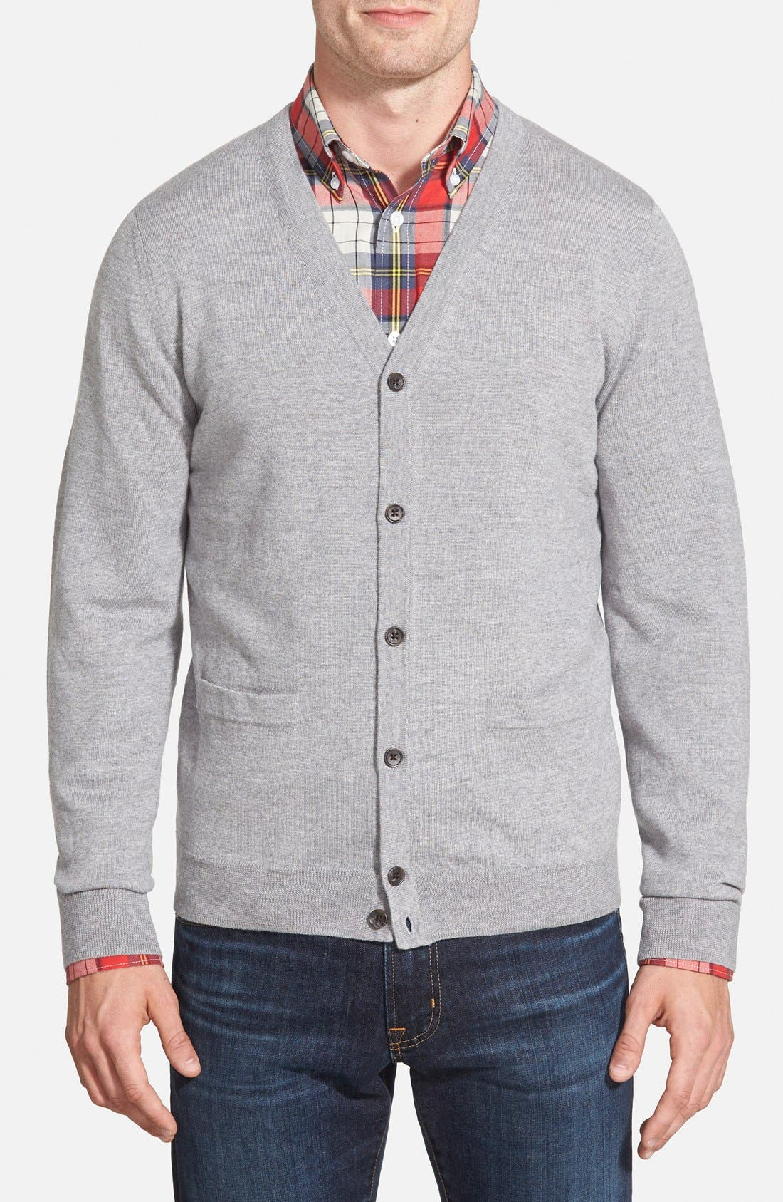 Main Image - Nordstrom Men's Shop Merino Wool Cardigan