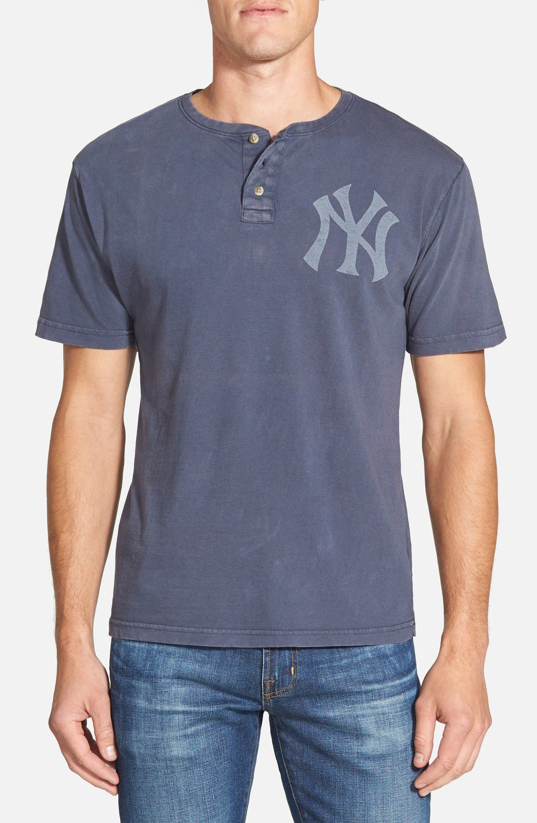 'New York Yankees - Luther' Henley,                         Main,                         color, Navy