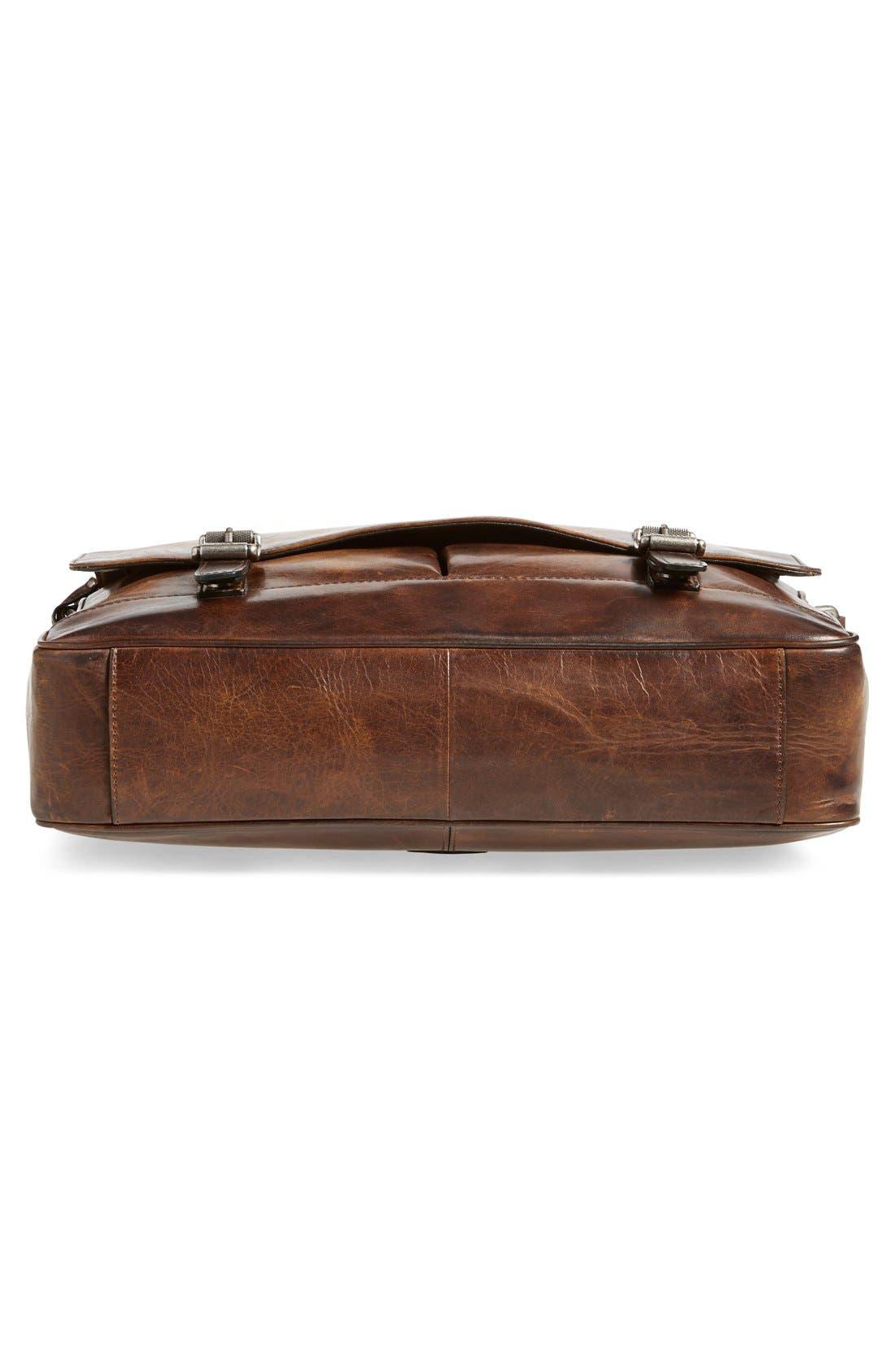 'Oliver' Leather Messenger Bag,                             Alternate thumbnail 6, color,                             Dark Brown