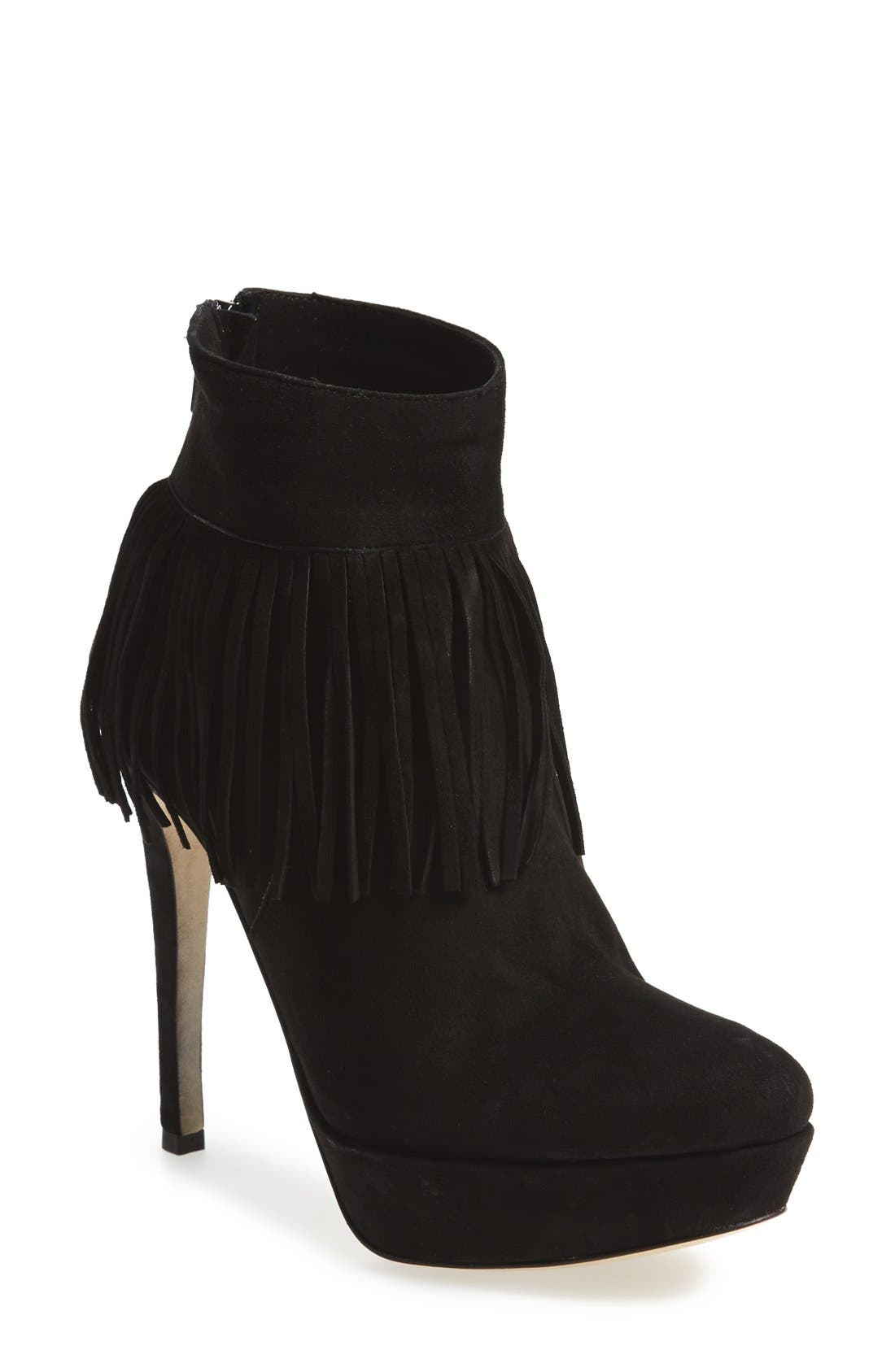 Alternate Image 1 Selected - Charles David 'Lula' Platform Fringe Bootie (Women)