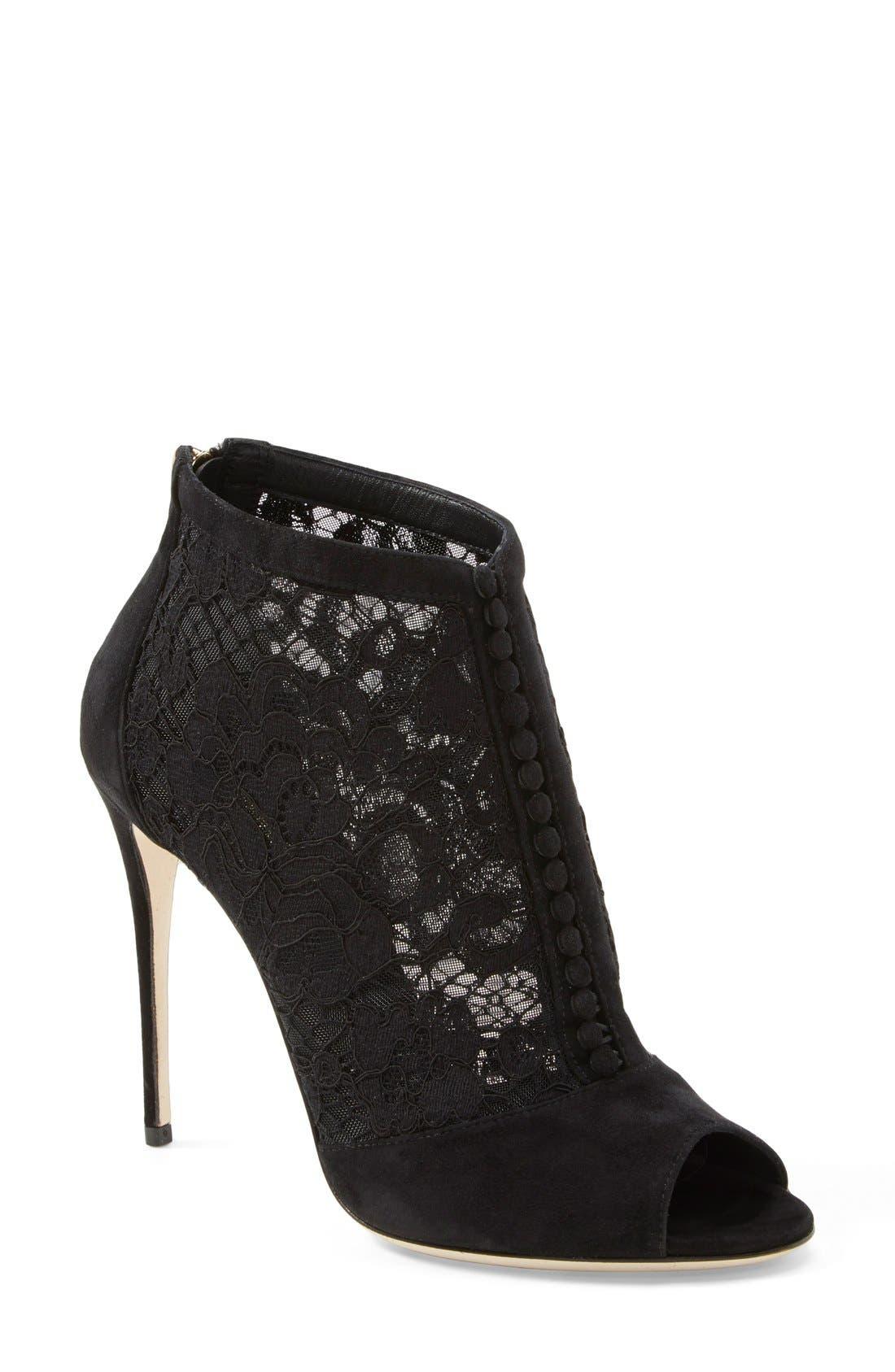 Alternate Image 1 Selected - Dolce&Gabbana Peep Toe Bootie (Women)