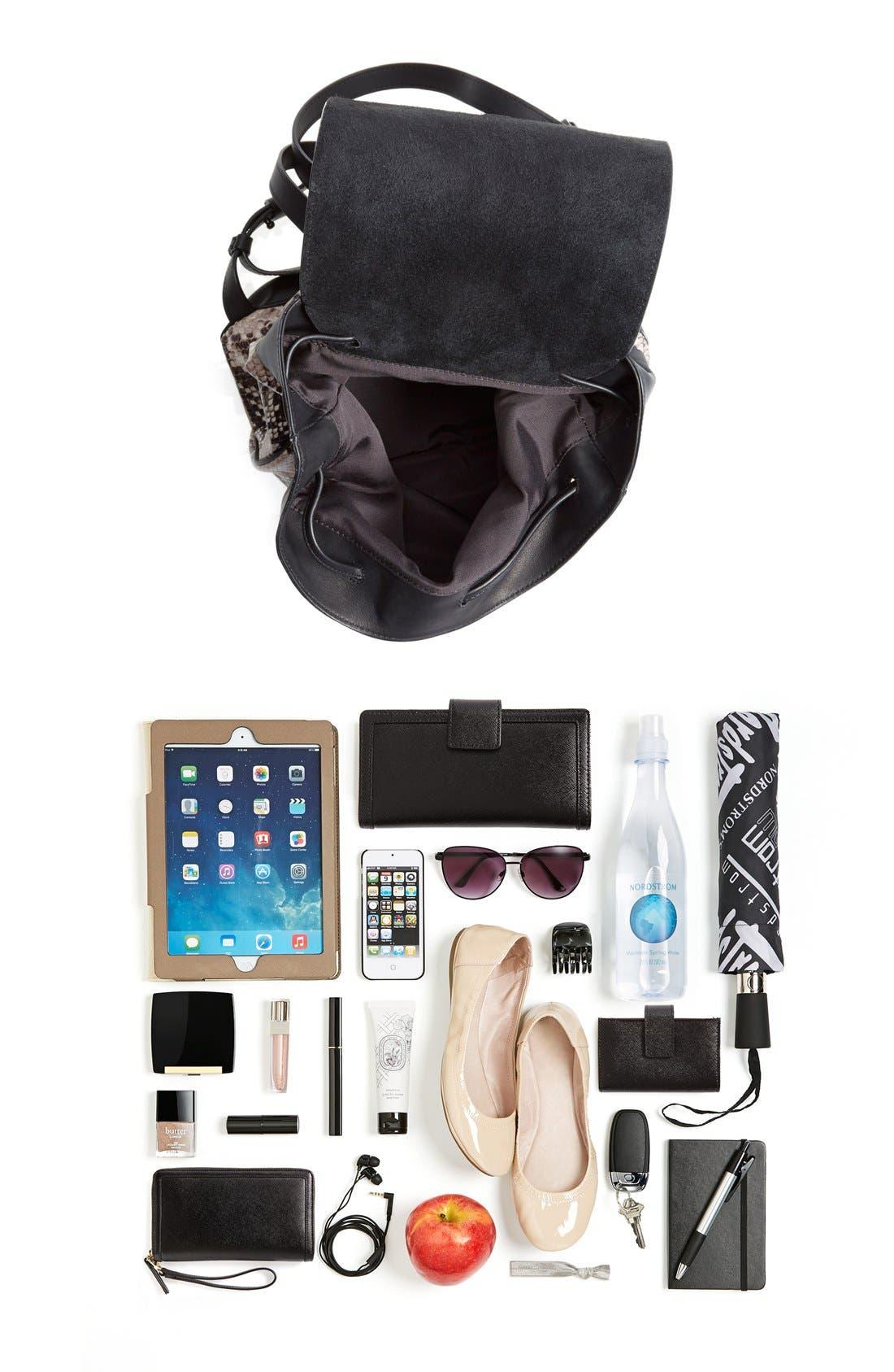 Alternate Image 6  - rag & bone 'Pilot' Snake Embossed Leather Backpack