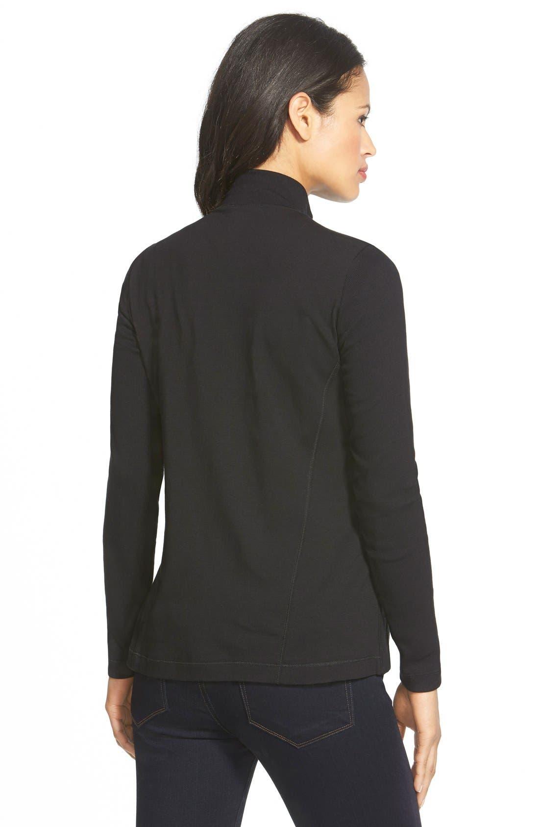Alternate Image 2  - Eileen Fisher Mixed Organic Cotton Stretch Knit Jacket
