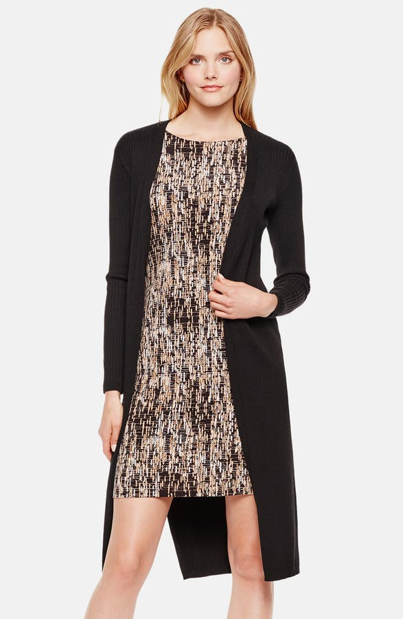 Vince Camuto Open Front Ribbed Maxi Cardigan   Nordstrom