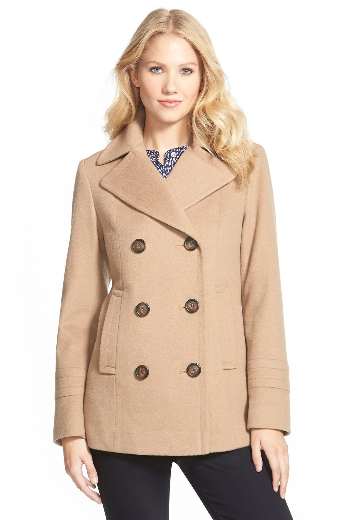 Main Image - Fleurette Wool Peacoat (Nordstrom Exclusive)