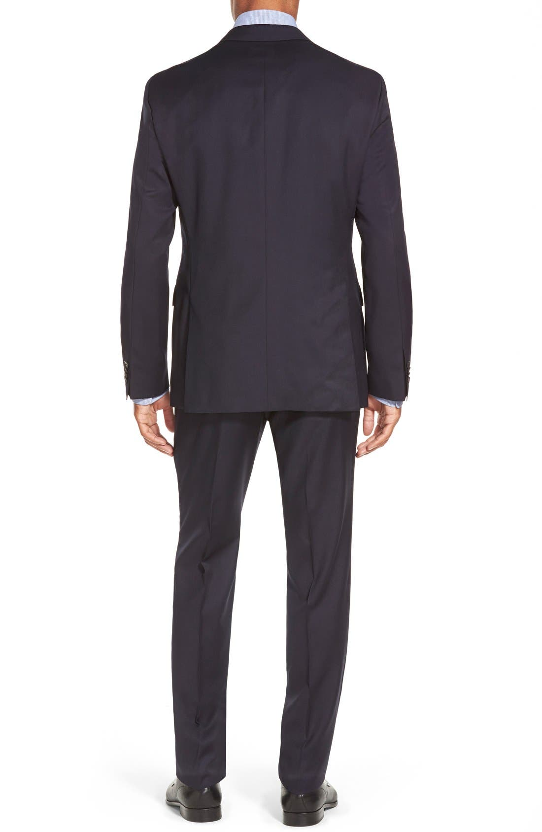 Johnstons/Lenon Classic Fit Wool Suit,                             Alternate thumbnail 2, color,                             Navy