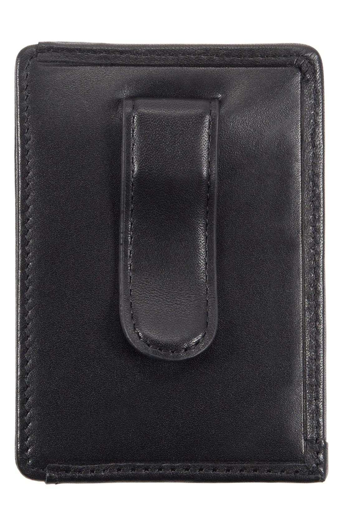 Alpha - ID Lock<sup>™</sup> Shielded Money Clip Card Case,                             Alternate thumbnail 2, color,                             Black