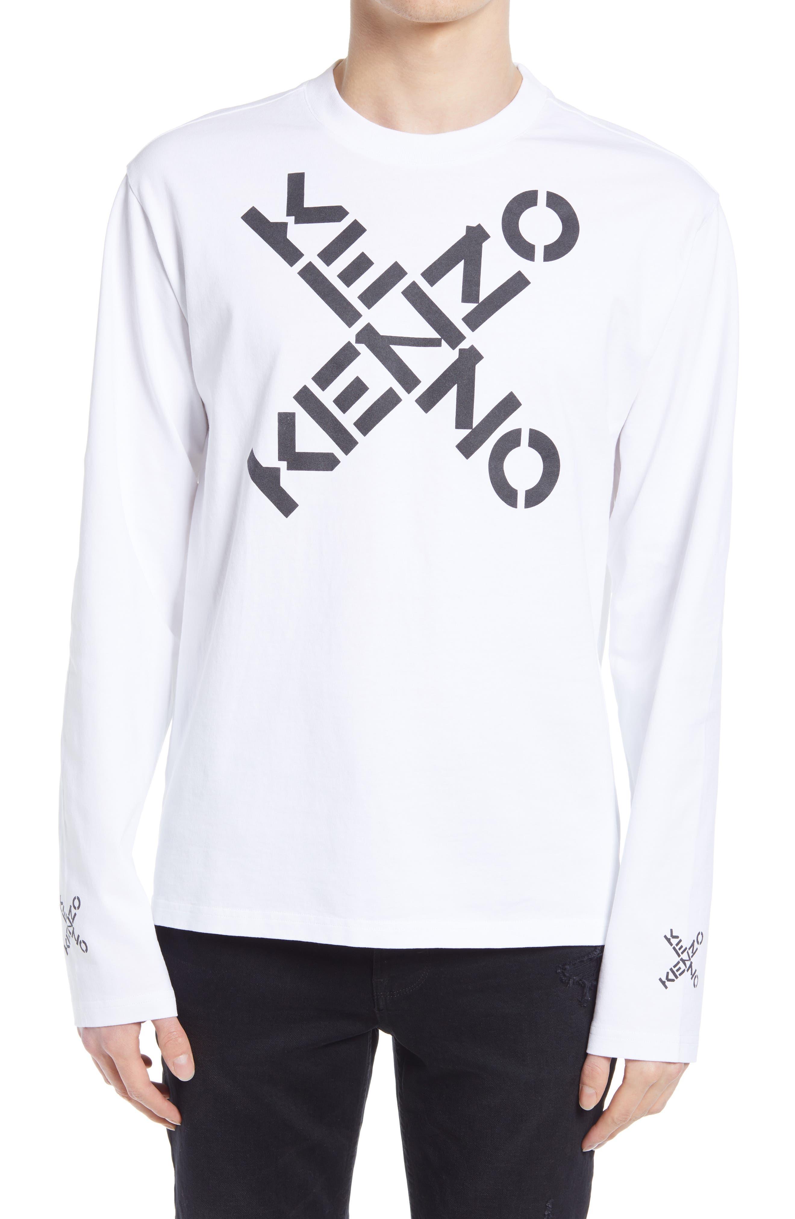 Kenzo Men/'s Multi-Color Graphic Short Sleeve T-Shirt US S M L