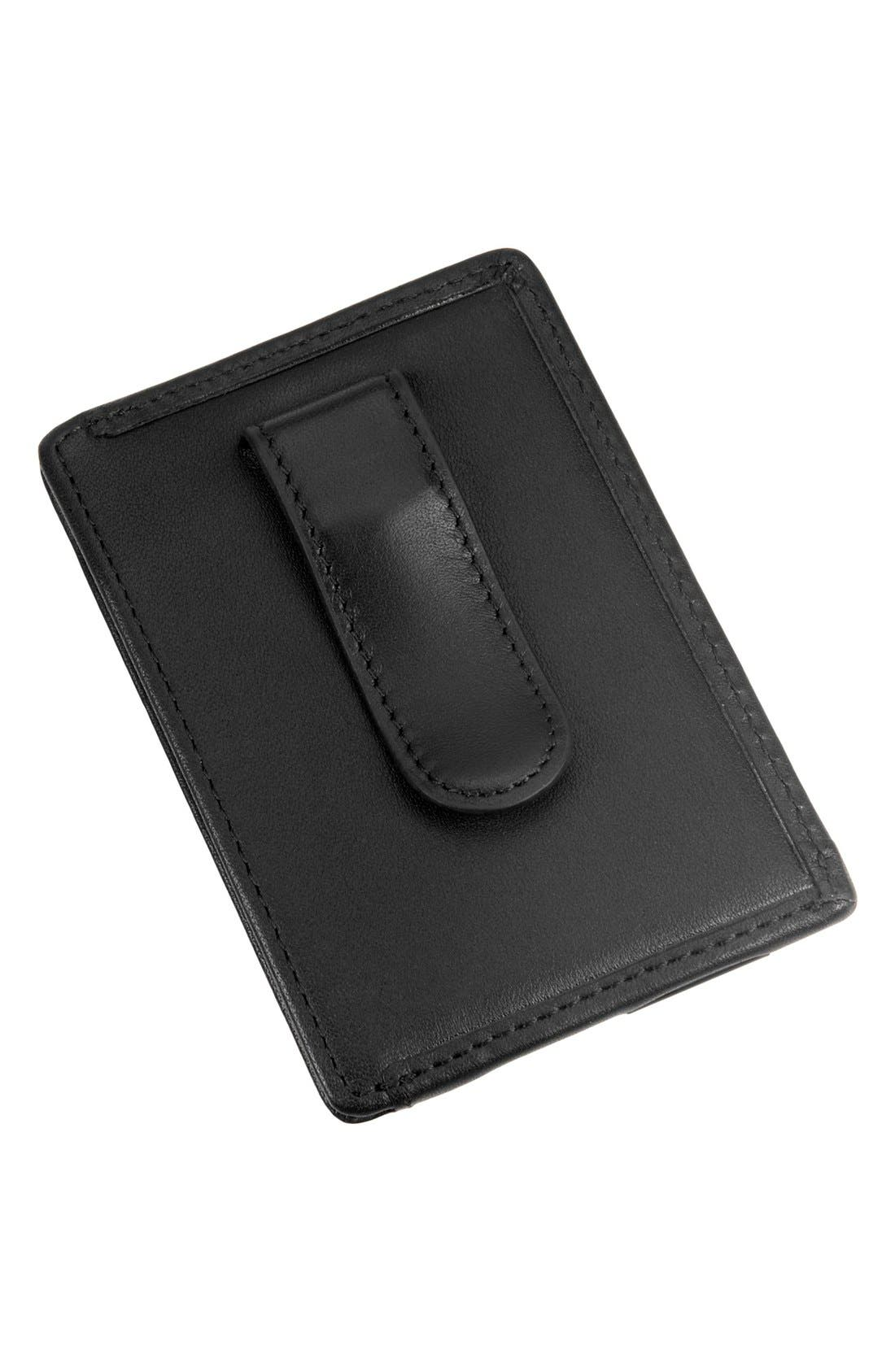 Alpha - ID Lock<sup>™</sup> Shielded Money Clip Card Case,                             Alternate thumbnail 3, color,                             Black