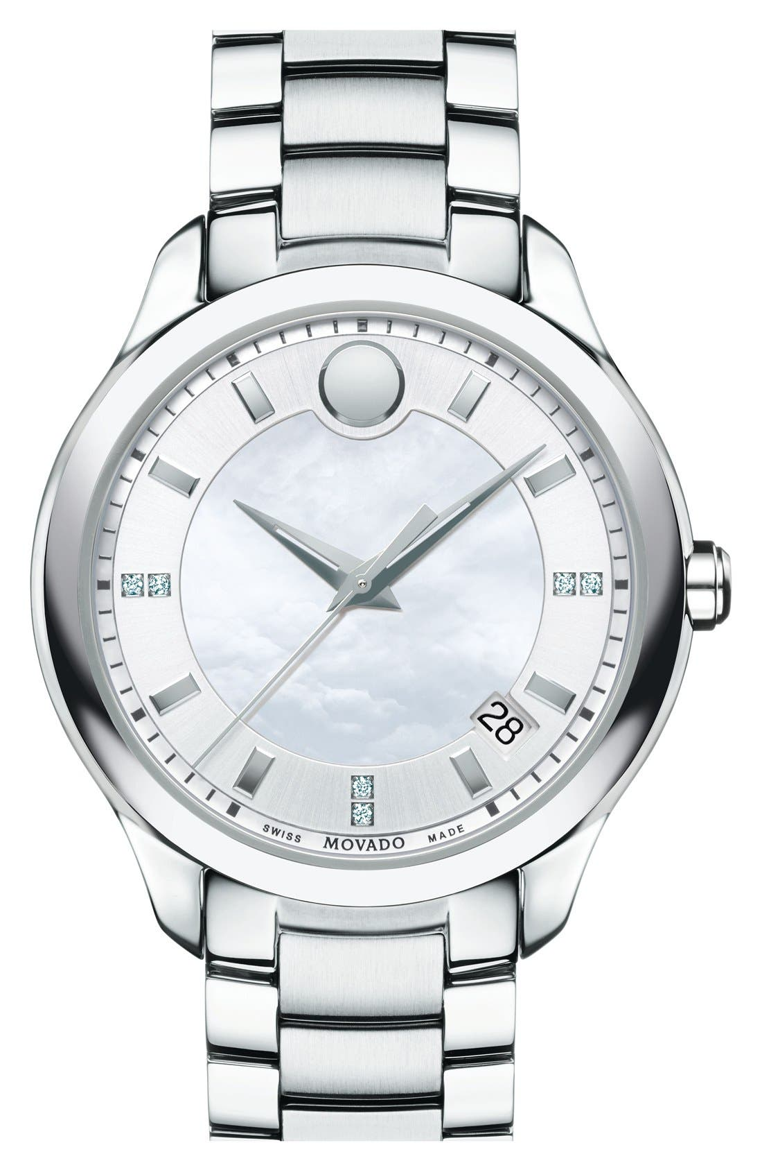 'Bellina' Bracelet Watch, 36mm,                         Main,                         color, Silver