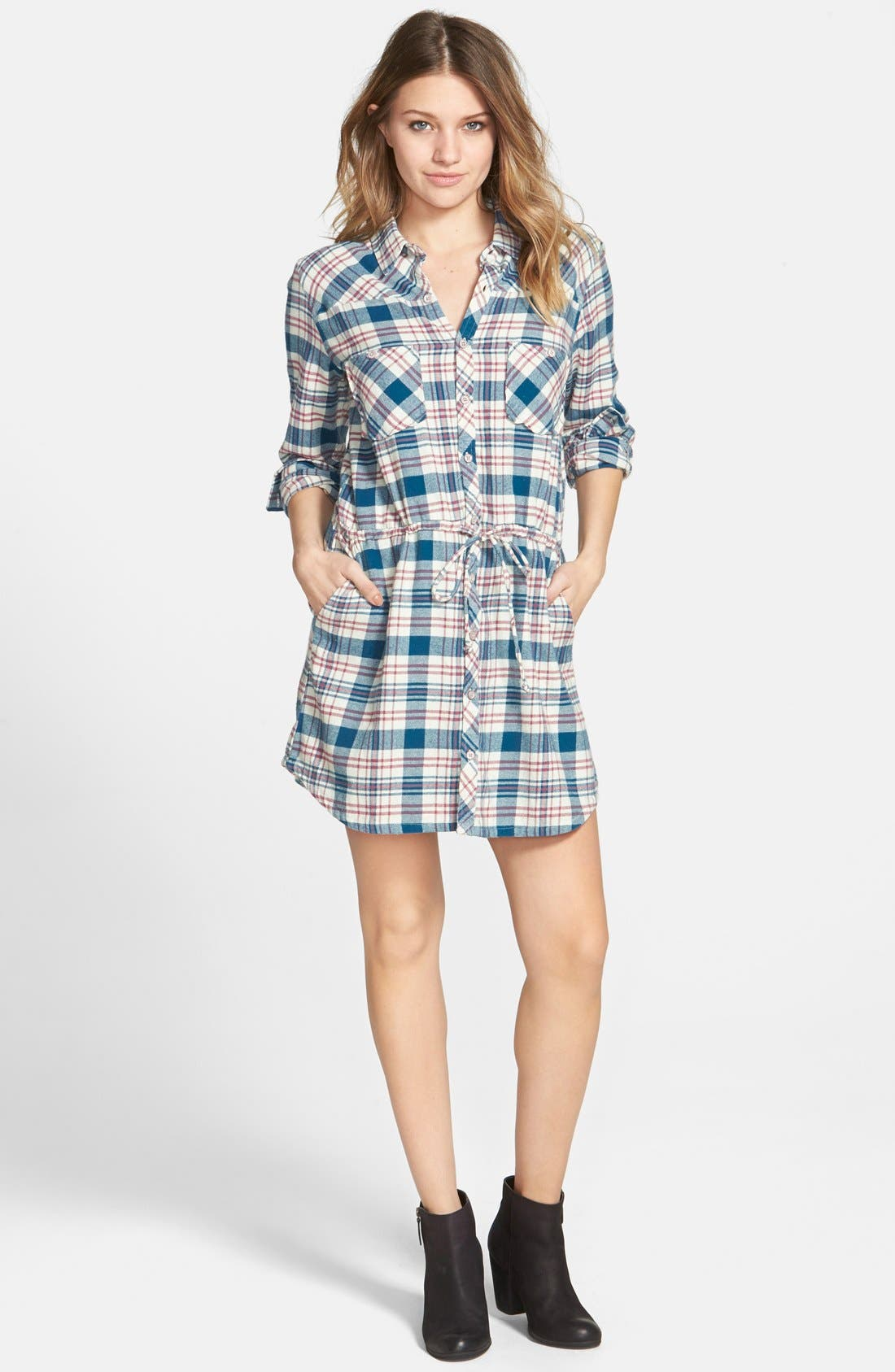 Main Image - Element 'Recess' Plaid Shirtdress