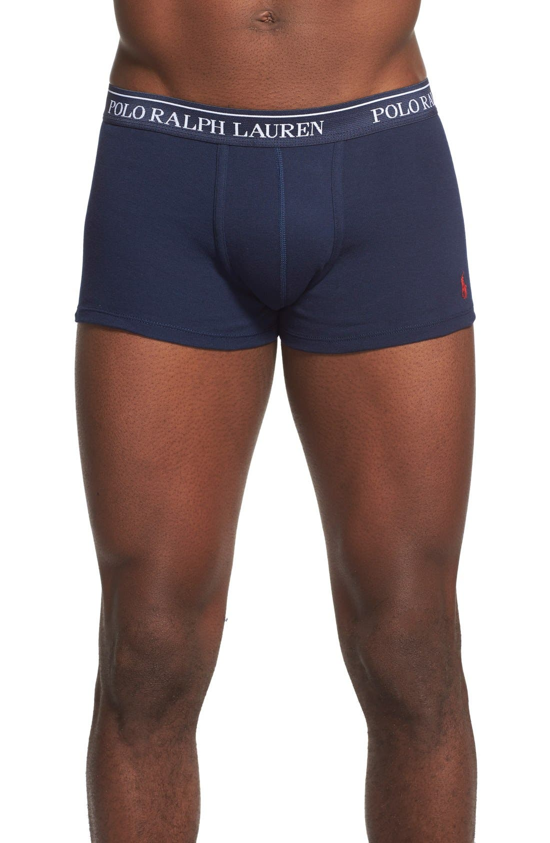 3-Pack Cotton Trunks,                         Main,                         color, Cruise Navy/ Blue