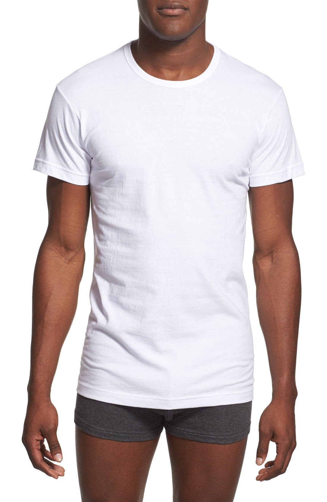 2(x)ist Slim Fit 3-Pack Cotton T-Shirt